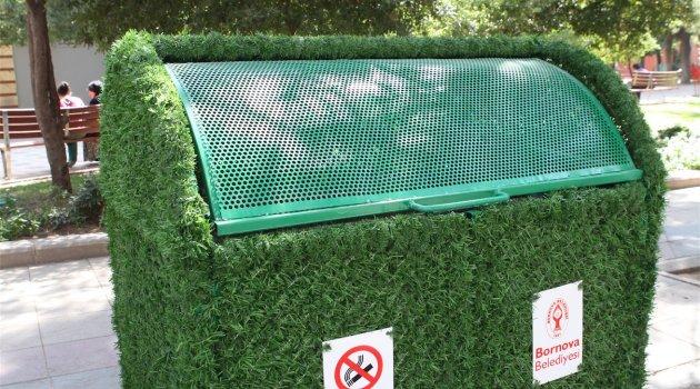 Bornova'da çöp konteynerleri yeşilleniyor