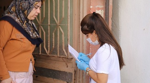 Buca'da engelli mültecilere pandemi desteği