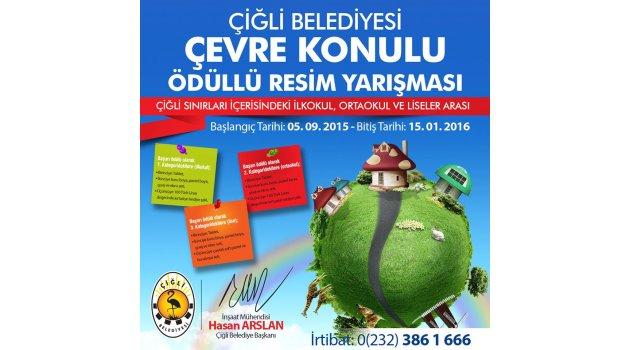 Çiğli'de çevre konulu resim yarışması…
