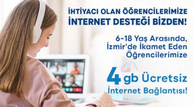 Öğrencilerimize  4 gb ücretsiz internet bağlantısı sağlıyoruz.