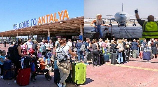 Rekor: Antalya'ya bir günde 386 uçak indi, 68 bin turist getirdi