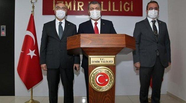 Sağlık Bakanı Dr. Fahrettin Koca İzmir Valiliğini Ziyaret Etti.