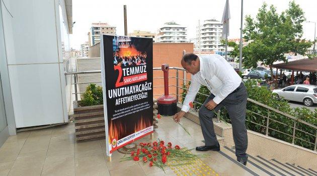 Sivas Katliamı'nın 22. Yıl Dönümünde Hüzünlü Anma